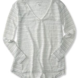 NEW AEROPOSTALE LAYERING WHITE SHIMMER SWEATER 2XL
